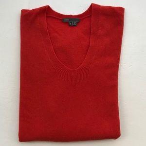Vince cashmere orange oversized weekend sweater